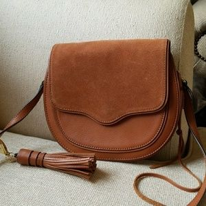 Rebecca Minkoff leather and suede crossbody